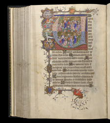 Historiated Initial To The Office Of The Dead With Scenes From The Life Of Christ, In The Egerton Bohun Psalter-Hours f.145v